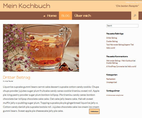 Kategorien Blog WordPress wie bloggt man richtig