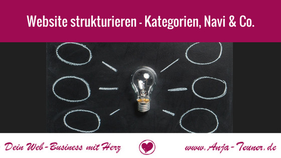 website struktur kategorien navigation
