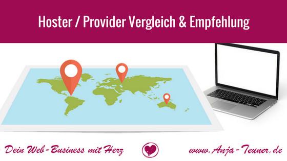 provider hoster anbieter vergleich empfehlung