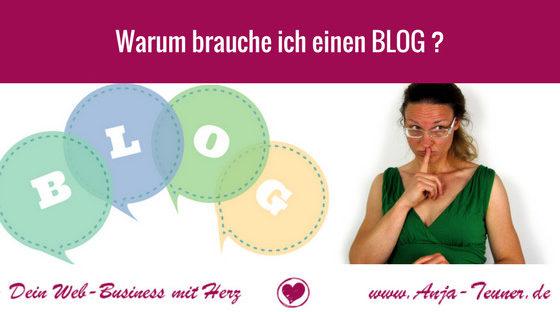 warum brauche ich einen blog