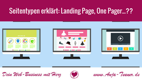 website-seitentypen-blog-landingpage-onepager