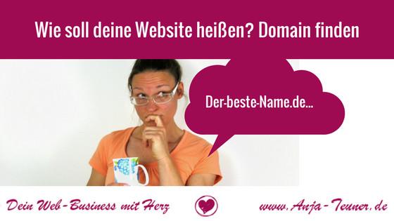 name website gute domain finden