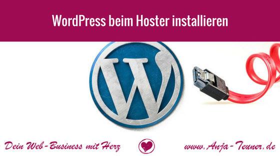wordpress installieren hoster provider anleitung